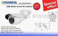 Promotion CCTV CMOS Camera 600TVL 20M IR  IR-CUT High Resolution Water-proof Camera  Lowest   DS-CR202SDH3