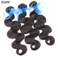 Best Selling Grade 6A Indian Virgin Hair Body Wave Machine Hair Weft, 3pcs lot, 300g/lot, natural black 1b, human hair extention
