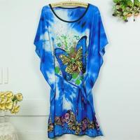 Short Sleeve Novelty Butterfly bohemian Ruffles Geometry Plus Size Mini  stripes dots 0018  Print Blouse Dress Bodycon
