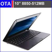 "10"" mini laptop RAM 512MB 4GB VIA 8850 Android 4.2  netbook  RJ45 USB HDMI  WiFi Webcamera HDD 4GB Black white or pink"