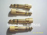 "50PCS Adapter gold plug audio jack TRS 1/4 ""(6.3 mm) to 1/8 inch(3.5mm)"