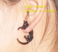 (Mini Mix Order > $10) 2014 New Hot Nightclub PUNK Vintage Bronze/Anti-silver/Black Metal Fox Cat Stud Earring Ear Cuff CE022-1