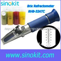 Free Shipping Brix Blue Grip Refractometer RHB-32ATC Blue handle