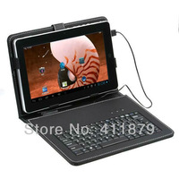 Free Shipping 10 inch Tablet Mini Micro USB 2.0 Keyboard Leather Case Cover for Tablet PC