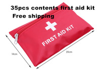 high quality 35pcs/set earthquake survival kit/car first aid kit/family first aid kit/life-saving bag CE,FDA  APPROVED