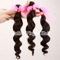 Free Shipping Brazilian Virgin Hair Loose Wave 3pcs Lot Color Can Dye Or Bleach Mocha Human Hair Extensions No.BA60-050