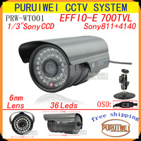 "Special offer 1/3""Sony Effio-e 700TVL 36led with OSD menu Indoor/Outdoor security IR CCTV Camera with bracket. free shipping."
