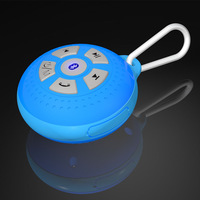 Free shipping1pcs/lot wirless Bluetooth Stereo mini portable waterproof speaker  with Microphone-in for I-phone/pad/laptop