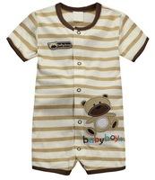 Baby Summer Sports Rompers Stripes Design New Born Infant Short Jumpsuits, 5 Sizes - JBR355/JBR364/JBR391/JBR392/JBR402/JBR415
