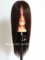 cheap 100% high temperature chemical fiber training mannequin head ,cosmetology training mannequin head ,makeup  hair length 21""