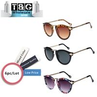 Wholesale Vintage Round Sunglasses Women Metal Arrows Retro Sunglasses Vogue Hipster Fashion Glasses Oculos De Sol