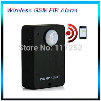 Wireless PIR Sensor Motion Detector GSM Alarm System Alert Monitor Remote Control Anti-Theft Alarm Free Shipping