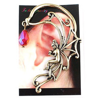 #035 Min.order 1 Lot Gothic Punk Style Angel Girl Ear Cuff Earrings Ear Clip For Sale Free Shipping 24pcs/lot