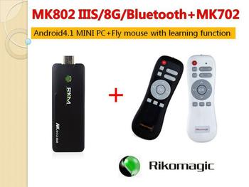 Rikomagic MK802IIIS Mini Android 4.1 PC STB RK3066Cortex A9 1GB RAM 8G ROM Bluetooth HDMI TF Card [IIIS/8G+Bluetooth+MK702]
