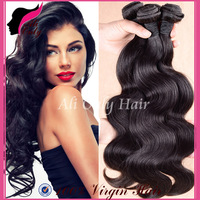 "Ali Only Hair Brazilian Body Wave Hair Extensions,1b#,jet black,dark brown,light brown,8""-30"" 3pcs/4pcs lot cheap brazilian hair"