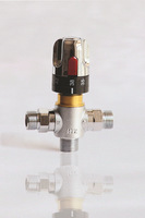 "BSP 1/2"" DN15 thermostatic valve for shower,  thermostatic mixer with adjustment handle warm water mixer valve"