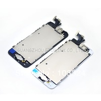 10pcs/lot By DHL Full front complete For iPhone 5 5G LCD with frame + Home Button Flex + Earpiece +front camera + sensor flex
