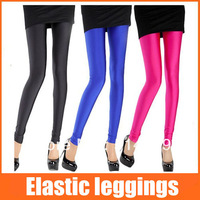 free shipping tops fashion fluorescence leggings15 candy color elastic free size  pants ankle length leggings for women 2013