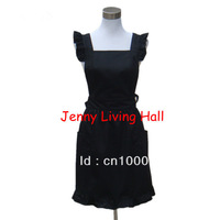 2 Colors Elegant Pure Cotton Apron Red and Black Color 2pcs/lot