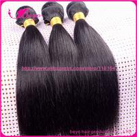 Rosa hair products Peruvian straight hair extension 3pcs lot,peruvian virgin hair  human hair grade 5a can be dyed free shipping