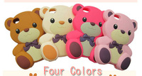 3D Lovely Cute Teddy Bear Silicone Case Cover for iPhone 4 4s Free Shipping