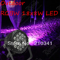 8pcs Free Shipping,Outdoor 18x10W RGBW LED Par,IP65  Waterproof Stage Light,Colors wash,Strobe,Sound-actived,Dmx In/out