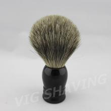 Resin black Grey Pure Badger hair Shaving Brush(China (Mainland))