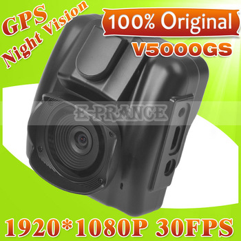 2013 New Arrival  100% Original V5000GS Ambarella Chip Car DVR GPS  +5MP  OV5653 Cmos+FULL HD 1080P 30FPS+G-Sensor +Night Vision