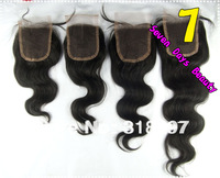 Lace Closure Brazilian Virgin Hair Body Weave Style Natural Off Black Fast Shipping 3.5''*4 Virgin Lace Brazilian Hair Closure
