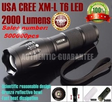 UltraFire E17 CREE XM-L T6 2000Lumens cree led Torch Zoomable cree LED Flashlight Torch light For 3xAAA or 1x18650-Free shipping(China