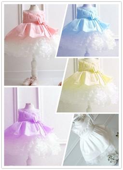 Special offer,NEW,2015 children dress 1pcs/lot girls High-grade Princess dresses Big bowknot dresse for summer red pink
