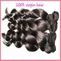 """Stock! 6A Queen Hair(Guangzhou) Brazilian virgin hair loose wave curls 3pcs/lot(12""""-28"""")  free DHL shipping"""