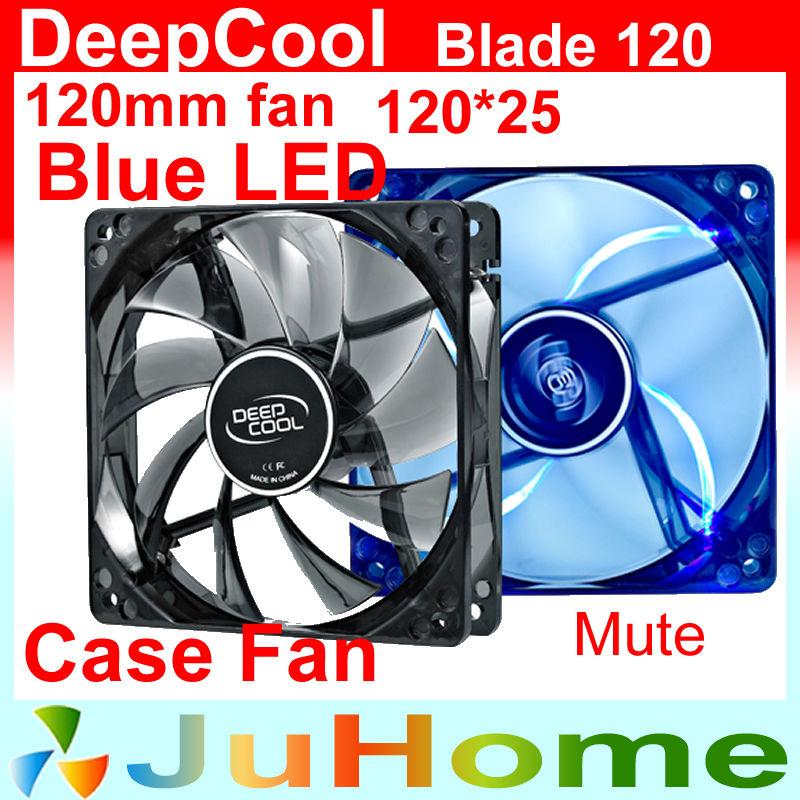 120mm, 12cm fan, cooling fan, Blue light, computer case, CASE Cooler, PC CASE Fan, computer case Radiator, DeepCool Blade 120(China (Mainland))