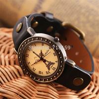 Alibaba Express Hot 2013 Original i-Saw Genuine Cow Leather watchband Eiffel Tower retro watch women bracelet watch DFK675