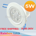 10pcs/lot 3W Epistar LED ceiling light  lamp Recessed Spot AC85V~265V for home illumination Free shipping(China (Mainland))