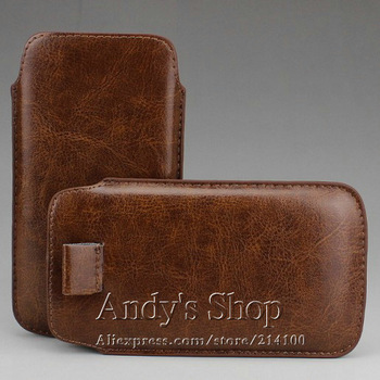 Leather Sleeve Pouch Case With Pull Tab For Samsung Galaxy S3 i9300