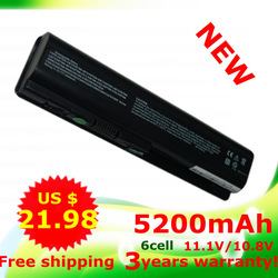 USD21.98 Battery for HP Pavilion DV4 DV5 DV6 G71 G50 G60 G61 G70 DV6 DV5T HSTNN-IB72 11.1/10.8V 5200mAh WorldWide Free shipping(China (Mainland))