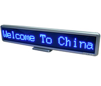 "22"" Blue DIP LED scrolling sign message display panel board desk /advertising /program rechargeable /support multi - language"