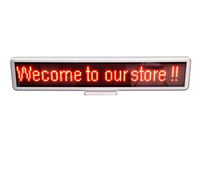 "22"" Red DIP LED scrolling sign message display panel board desk /car advertising /programmable rechargable/support multi-languae"
