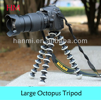 2014 Brand New Large Size FlexibleTripod bubble Octopus Grip 1/4'' TRIPOD with 3/8'' Screw  for dslr Digital Camera DV Camcorder