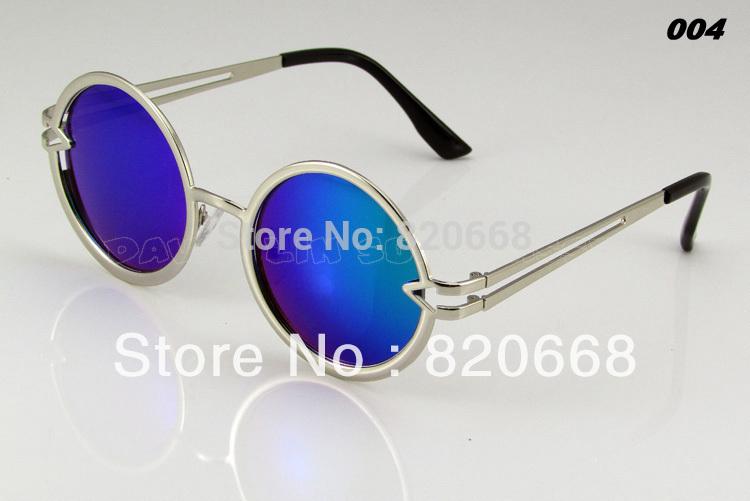 2014 Newest Fashion Brand Designer Men Women Sunglasses 7 Colors Metal Frame Gafas Arrow Round glasses fashion sunglasses P2251(China (Mainland))