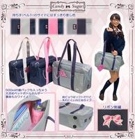 free shipping Candy sugar girls handbag oxford outdoor sports purse uniform school bag work bag student shoulder bags supernova