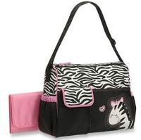 Zebra print babyboom multifunctional fashion infanticipate bag nappy bag mother baby bag messenger bag waterproof large capacity