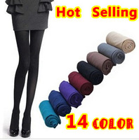 On Sale! New 2013 Autumn Fashion  Woman 120D All-Match Super Pantyhose 100% Velvet Candy Color Socks 14 Colors Free Shipping