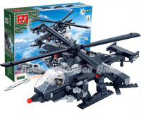 Banbao Building Blocks Hot Toy Creator 3in1 Helicopter Warship Chariot Plane Assembling Blocks Toys  for Boys Lego Compatible