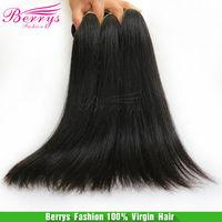 "6A Berrys fashion Hair ,Malaysian Virgin Hair Straight 4pcs/lot(12""-34"") natural color soft hair weaves new star product"