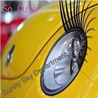 New Fashion Cool Black Car Headlight Eyelashes,Cute Headlight Sticker,Wedding Personalized Car Stickers,Car Decorate Accessories