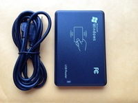 Free Shipping(1pc) 125Khz RFID ID Card Reader EM4100 USB Proximity Sensor Smart Reader + 2 Pcs 125Khz Rfid ID Card