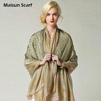 2014 new style summer shawl 100 silk scarf BRAND satin 180x110cm big size hijabs fashion pashmina designer scarves for women