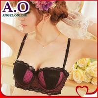 Free shipping! 2014 new fashion women's sexy lace bra set female plus size underwear push up bra and panty set